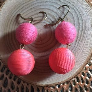 J Crew Pink Bauble Earrings